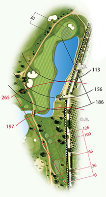 Map of Quinta da Ria golf course