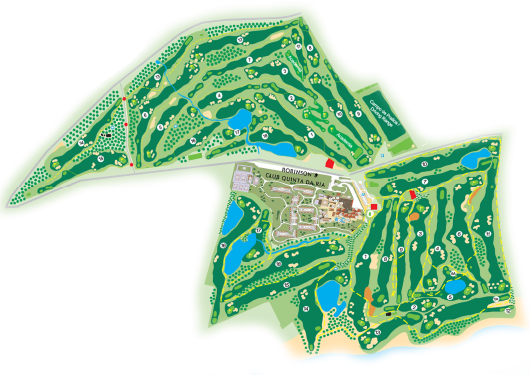 Golf courses map Quinta da Ria