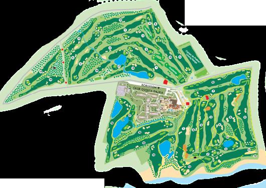Golf courses map Quinta da Ria