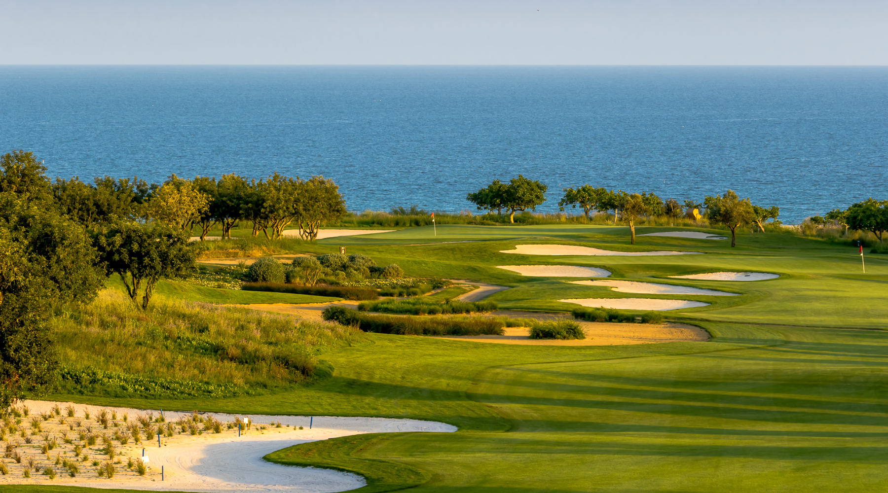 Golf course Quinta da Ria green near the sea